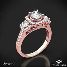 18k Rose Gold Simon G. NR464 Passion Three Stone Engagement Ring | Whiteflash