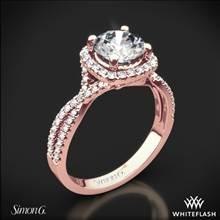 18k Rose Gold Simon G. NR468 Passion Halo Diamond Engagement Ring | Whiteflash