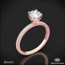 18k Rose Gold Simon G. PR108 Classic Romance Diamond Engagement Ring | Whiteflash