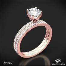 18k Rose Gold Simon G. PR108 Classic Romance Diamond Wedding Set | Whiteflash