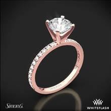 18k Rose Gold Simon G. PR148 Passion Diamond Engagement Ring | Whiteflash