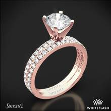 18k Rose Gold Simon G. PR148 Passion Diamond Wedding Set | Whiteflash