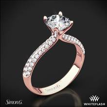18k Rose Gold Simon G. TR431 Caviar Diamond Engagement Ring | Whiteflash