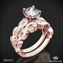 18k Rose Gold Simon G. TR473 Duchess Diamond Wedding Set | Whiteflash