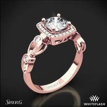 18k Rose Gold Simon G. TR526 Passion Halo Diamond Engagement Ring   Whiteflash