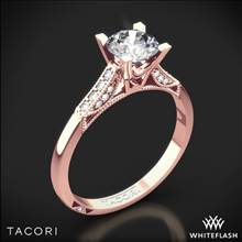 18k Rose Gold Tacori 2586RD Simply Tacori Pave Complete Diamond Engagement Ring with 0.50ct Diamond Center | Whiteflash