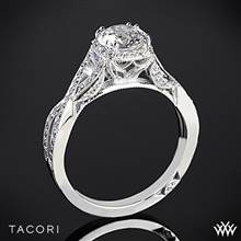 18k Rose Gold Tacori 2627RDSM Dantela Ribbon Diamond Engagement Ring | Whiteflash