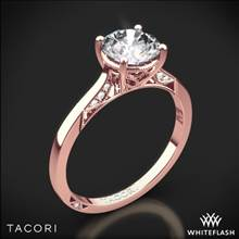 18k Rose Gold Tacori 2638RD Dantela Crescent Motif Solitaire Engagement Ring | Whiteflash