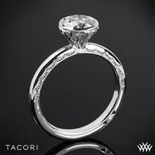 18k Rose Gold Tacori 300-2RD Starlit Petite Solitaire Engagement Ring | Whiteflash