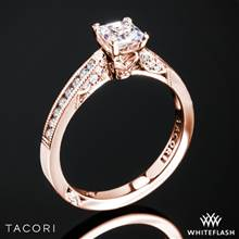 18k Rose Gold Tacori 3003 Simply Tacori Diamond Engagement Ring for Princess with 0.50ct Diamond Center | Whiteflash