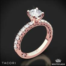 18k Rose Gold Tacori 33-2RD Clean Crescent Half Eternity Diamond Engagement Ring | Whiteflash