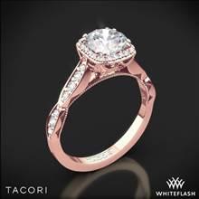 18k Rose Gold Tacori 39-2CU Sculpted Crescent Ribbon Diamond Engagement Ring   Whiteflash