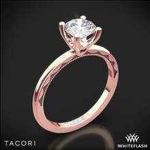 18k Rose Gold Tacori 40-1.5RD Sculpted Crescent Millgrain Solitaire Engagement Ring   Whiteflash