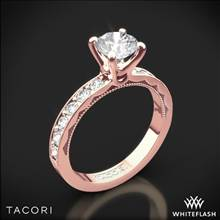 18k Rose Gold Tacori 41-3RD Sculpted Crescent Lace Diamond Engagement Ring | Whiteflash