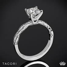 18k Rose Gold Tacori 46-25PR Sculpted Crescent Diamond Engagement Ring for Princess | Whiteflash