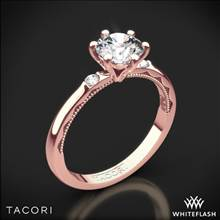 18k Rose Gold Tacori 56-2RD Sculpted Crescent Classic 3 Stone Engagement Ring | Whiteflash