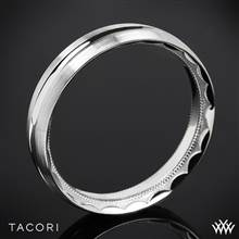 18k Rose Gold Tacori 72-5WS Sculpted Crescent Satin Wedding Ring | Whiteflash