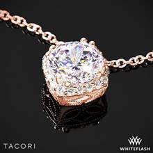 18k Rose Gold Tacori FP643 Dantela Diamond Pendant to Hold 0.75ctw - Setting Only | Whiteflash