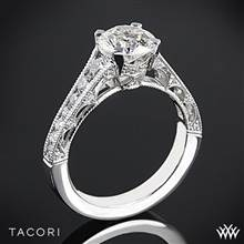 18k Rose Gold Tacori HT2510 Reverse Crescent Graduated Diamond Engagement Ring | Whiteflash