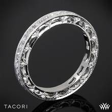 18k Rose Gold Tacori HT2510PRB Reverse Crescent Eternity Princess Star Diamond Wedding Ring | Whiteflash