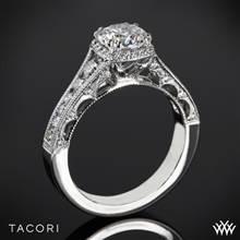 18k Rose Gold Tacori HT2515RD Reverse Crescent Contemporary Diamond Engagement Ring   Whiteflash