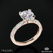 18k Rose Gold Tacori HT2545 Petite Crescent Scalloped Millgrain Diamond Engagement Ring | Whiteflash