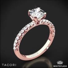 18k Rose Gold Tacori HT2545RD Petite Crescent Scalloped Millgrain Diamond Engagement Ring | Whiteflash