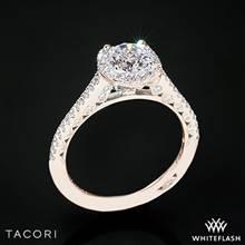18k Rose Gold Tacori HT2547 Petite Crescent Celestial Diamond Engagement Ring | Whiteflash