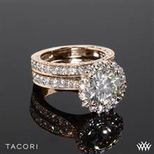 18k Rose Gold Tacori HT2605RD RoyalT Bloom Diamond Wedding Set | Whiteflash