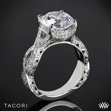 18k Rose Gold Tacori HT2606RD RoyalT Curved Diamond Engagement Ring | Whiteflash