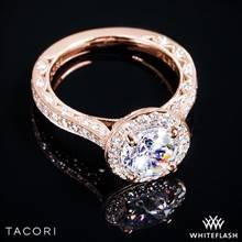 18k Rose Gold Tacori HT2650RD RoyalT Diamond Engagement Ring | Whiteflash