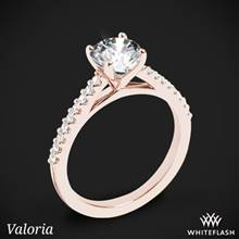 18k Rose Gold Valoria Cathedral Diamond Engagement Ring | Whiteflash