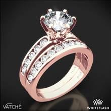 18k Rose Gold Vatche 1020 6-Prong Channel Diamond Diamond Wedding Set | Whiteflash