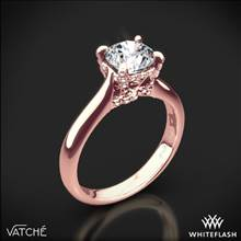 18k Rose Gold Vatche 1025 X-Prong Surprise Solitaire Engagement Ring | Whiteflash