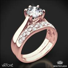 18k Rose Gold Vatche 119 Royal Crown Diamond Wedding Set | Whiteflash