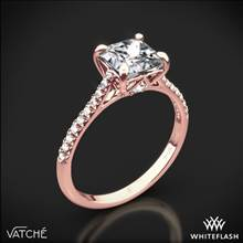 18k Rose Gold Vatche 1506 Inara Pave Diamond Engagement Ring for Princess | Whiteflash