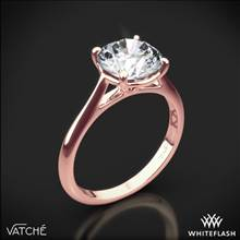 18k Rose Gold Vatche 1508 Venus Solitaire Engagement Ring | Whiteflash
