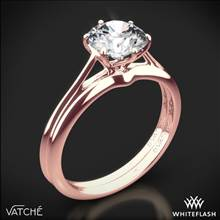18k Rose Gold Vatche 1513 Felicity Solitaire Wedding Set | Whiteflash