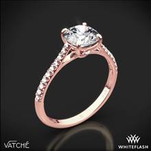 18k Rose Gold Vatche 1515 Inara Pave Diamond Engagement Ring | Whiteflash