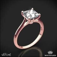 18k Rose Gold Vatche 1520 Lyric Solitaire Engagement Ring for Princess | Whiteflash