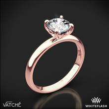 18k Rose Gold Vatche 1532 Charis Solitaire Engagement Ring | Whiteflash