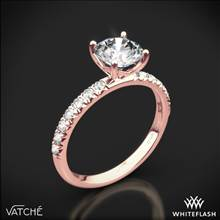 18k Rose Gold Vatche 1533 Charis Pave Diamond Engagement Ring | Whiteflash