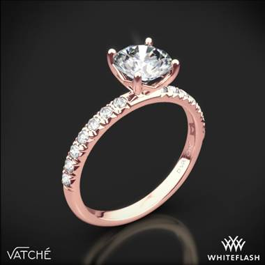 18k Rose Gold Vatche 1533 Charis Pave Diamond Engagement Ring