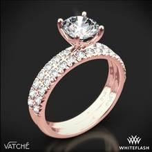 18k Rose Gold Vatche 1533 Charis Pave Diamond Wedding Set | Whiteflash