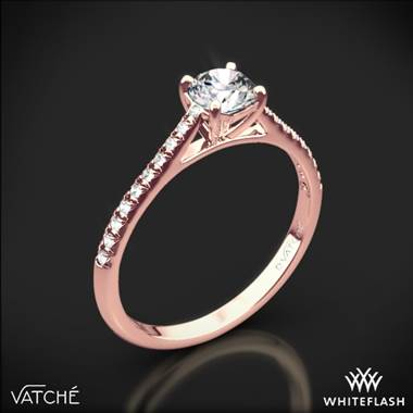 18k Rose Gold Vatche 1535 Melody Diamond Engagement Ring
