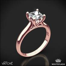 18k Rose Gold Vatche 188 Caroline Solitaire Engagement Ring for Princess | Whiteflash