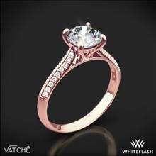 18k Rose Gold Vatche 189 Caroline Pave Diamond Engagement Ring | Whiteflash