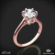 18k Rose Gold Vatche 191 Swan Solitaire Engagement Ring | Whiteflash