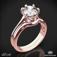 18k Rose Gold Vatche 191 Swan Solitaire Wedding Set | Whiteflash