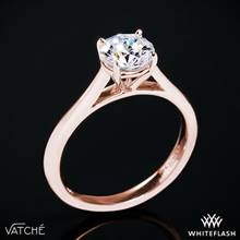 18k Rose Gold Vatche U-100 Traditional Round Solitaire Engagement Ring | Whiteflash